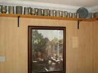 PEWTER WARE - Massive collection of 90 pewter items, mostly mugs, plates etc.