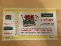 4 tickets available for Gig on the green Yately. Saturday all day Live bands £22.50 per ticket
