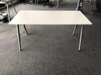 White ikea office desks