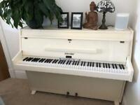 Zender cream upright piano