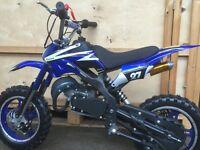 New Mini Dirt Bike 2016 50cc 2 stroke great fun FREE DELIVERY