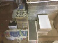 Various mixed tiles & adhesive