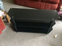 Black TV Stand, excellent condition