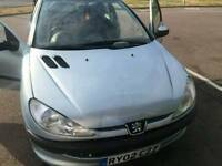 Peugeot 206 verve 2002 model for sale