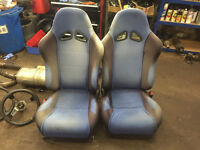 honda crx del sol vti blue bucket seats sir esi jdm racing with rails track