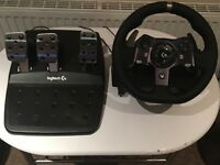 Logitech g920 force feedback steering wheel for xbox one