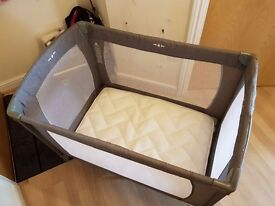 Travel Cot with extra mattress - excellent condition - as new