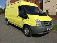 2008 FORD TRANSIT 2.4 350 LWB 115 BHP DIESEL YELLOW LONG MOT CLEAN VAN