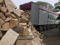 Kiln dried hardwood logs, firewood in 1m3 bags