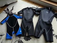 WETSUITS shorty short childs kids boys womens mens
