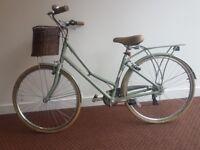 Womens Grey Pendleton Somerby Hybrid Bicycle Bike with Basket. Optional: Helmet, lock, cable, pump