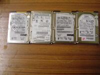 4X 2.5 IDE LAPTOP HARD DRIVE WITH WINDOWS 7 PRO INSTALLED.