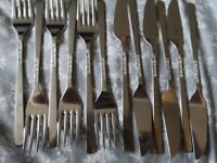 VINTAGE Viners LOVE STORY cutlery knives, forks and spoons