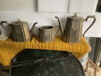 tea pot coffee pot sugar bowl