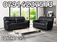 3&2 or Corner Leather Sofa Range Cash On Delivery 0365