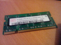 Hynix 512MB DDR2 PC2-4200S-444-12 Laptop memory