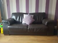 Two seater & Three seater Leather Sofas