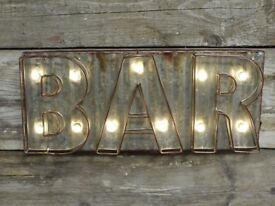 Metal Bar Light Up Sign 4471