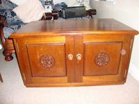 Craftsman made Mahogany TV Stand and Cabinet