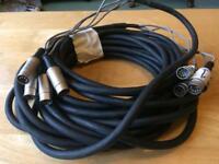 4 way pro Midi to Midi Loom Audio cable studio