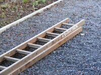 Two section timber ladder