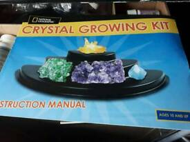 Crystal growing experiment set. New