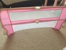 Pink Lindam Bed Guard