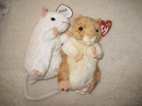 Ty Beanie Baby Hamster & Mouse
