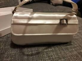 Ivory satin handbag