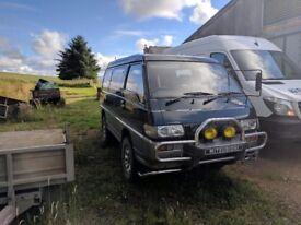 mitsubishi l300 4x4 camper project