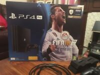 PS4 PRO - 1TB - (Black) - BRAND NEW CONDITION - Plus Extra Controller - Docking Station and Games