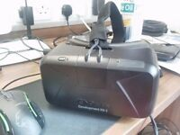 Oculus Rift DK2 VR Headset with cables and box