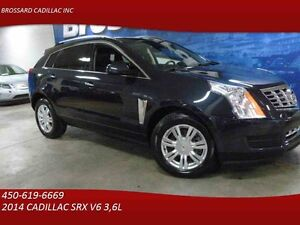 2014 CADILLAC SRX collection luxe , A W D , NAVY , TOIT ,