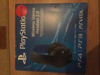 Ps4 original headset over ear, bluetooth USB RRP £65
