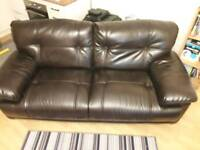 Strong leather 3 seater settee (No Offers) please.