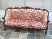 French Louis sofa and 2 chairs (project)