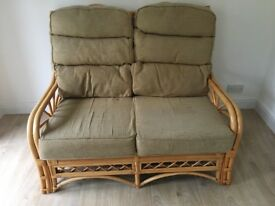 Two seater conservatory furniture with two single chairs