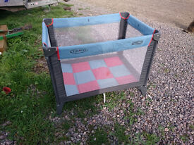 Graco portable playpen in good if little dusty condition