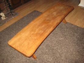 Large Top Quality Vintage Solid Elm Coffee Table 1970s