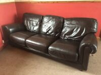 Large leather sofa. Good condition.