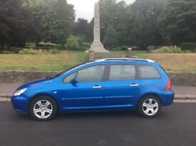2004 peugeot 307 estate 1.6 7 seater