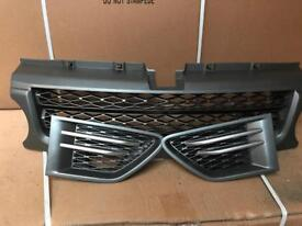 L Rover Range Rover Sport SE HSE Front Grill & side Vents fits 2009 to 2013 models in Metalic Grey