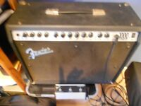 fender guitar amp with foot switch great condition