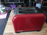 2 slice toaster - Russell Hobbs in Red