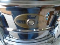 Pearl mirror chrome Steel shell snare drum 14 x 5.5