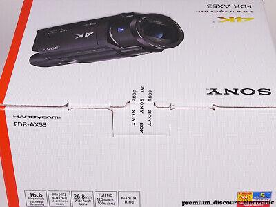 Sony FDR-AX53 Camcorder 4K Ultra HD Videorecorder AX53 Handycam in OVP NEU