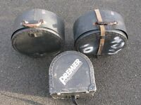 Vintage Premier Drum Cases x 3