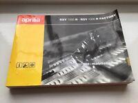 Aprilia RSV 1000 R 2004-2009 owners manual/handbook