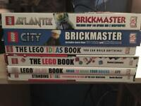 Lego books + brickmaster with bricks