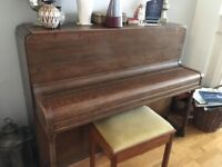John Maunder piano in excellent condition with stool and Beker Metronome